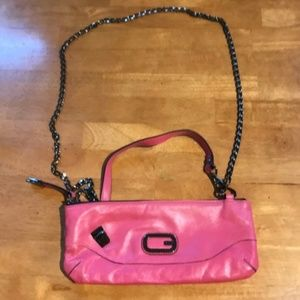 Pink Guess Clutch Purse